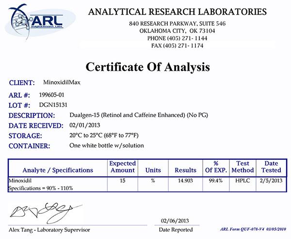 15% minoxidil with azelaic acid | In Stock | Dualgen-15 NO PG